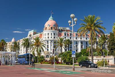 Hotel Negresco On English Promenade In Nice Poster by Elena Elisseeva