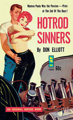 Poster featuring the painting Hotrod Sinners by John Duillo