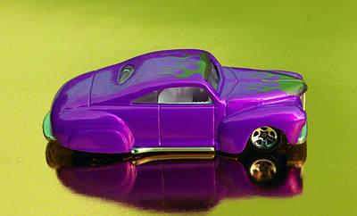 Hotwheels Taildragger Purple Poster by Bruce Roker