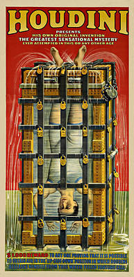 Houdini Advertisement 1916 Poster