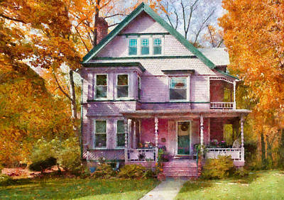 House - Cranford Nj - An Adorable House Poster by Mike Savad