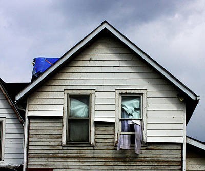 House After Tornado Poster by Chris Fender