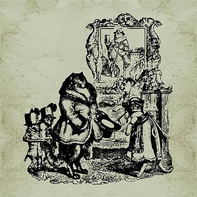 House Guest Grandville Sepia Poster by Barbara St Jean