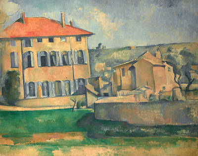House In Aix  Poster by Paul Cezanne