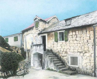 House In Split Croatia Poster by Wilfrid Barbier
