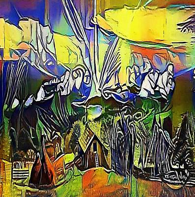 House In The Mountains - My Www Vikinek-art.com Poster by Viktor Lebeda
