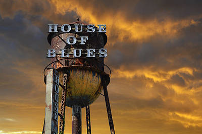 Poster featuring the photograph House Of Blues  by Laura Fasulo