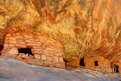 House On Fire Anasazi Indian Ruins Poster by Gary Whitton