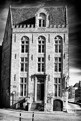House On The Corner In Bruges Poster