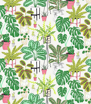 House Plants Poster by Jacqueline Colley