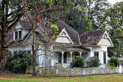 House With A Picket Fence Poster by Lynn Jordan
