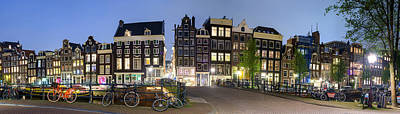 Houses Along The Singel Poster by Panoramic Images