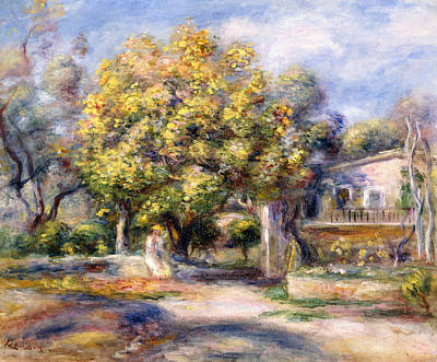 Houses In Cagnes Poster by Pierre Auguste Renoir