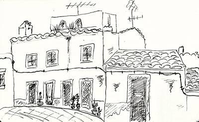Houses In Elvas Poster