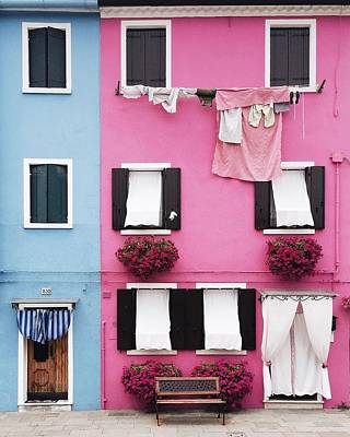Houses Of Burano 7 Poster by Happy Home Artistry