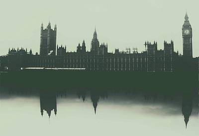 Houses Of Parliament Poster by Martin Newman