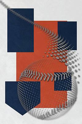 Houston Astros Art Poster by Joe Hamilton