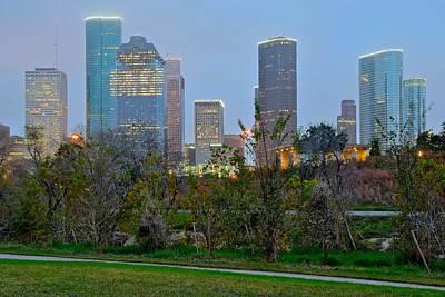 Houston Evening Skyline Poster