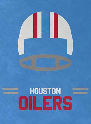 Houston Oilers Vintage Art Poster