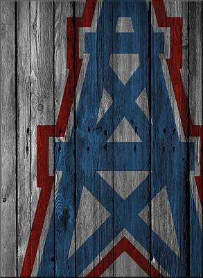 Houston Oilers Wood Fence Poster