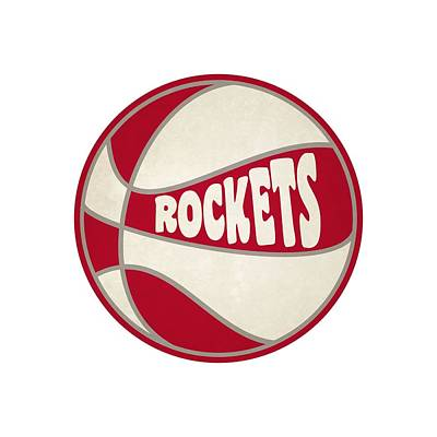 Houston Rockets Retro Shirt Poster by Joe Hamilton