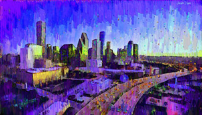 Houston Skyline 32 - Da Poster