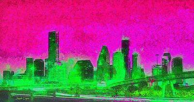 Houston Skyline 46 - Da Poster