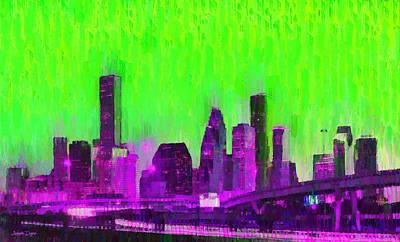 Houston Skyline 85 - Pa Poster
