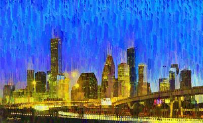 Houston Skyline 88 - Pa Poster