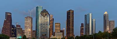 Houston Skyline Panorama Poster by Jonathan Davison