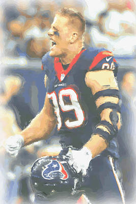 Houston Texans Jj Watt 5 Poster by Joe Hamilton