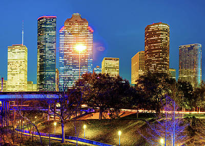 Houston Texas Skyline Cityscape Poster by Gregory Ballos