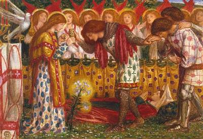 How Sir Galahad Poster by Dante Gabriel Rossetti