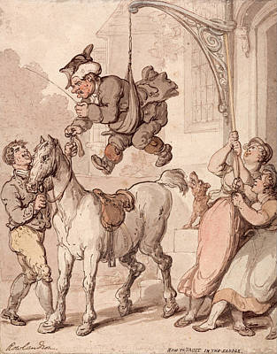 How To Vault In The Saddle Poster by Thomas Rowlandson