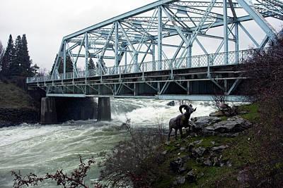 Howard St Bridge - Peak Spring Flow - Spokane Poster by Daniel Hagerman