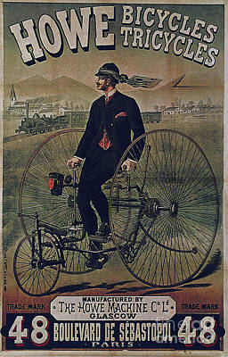 Howe Bicycles Tricycles Vintage Cycle Poster Poster