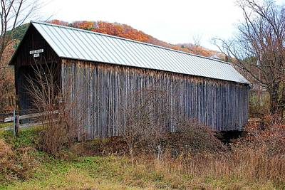 Howe Covered Bridge Poster by Wayne Toutaint
