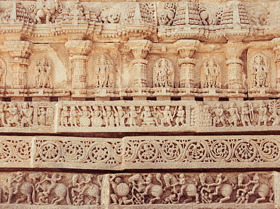 Ancient Hoyshala Mural In India Poster