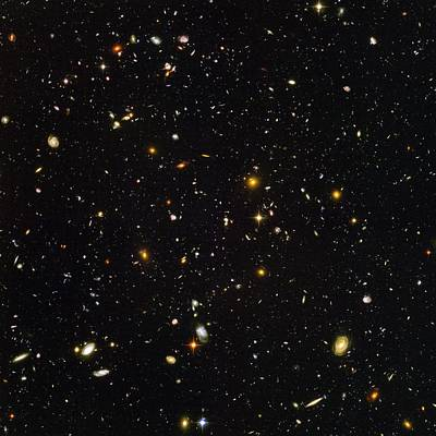 Hubble Ultra Deep Field Galaxies Poster by Nasaesastscis.beckwith, Hudf Team