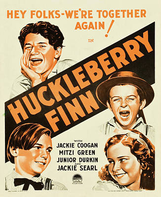Huckleberry Finn 1931 Poster by Mountain Dreams