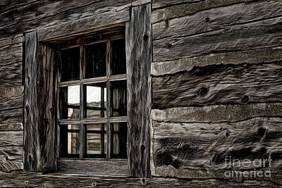 Poster featuring the photograph Hudson Bay Fort Window by Brad Allen Fine Art