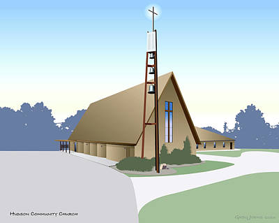 Hudson Community Church Poster by Greg Joens