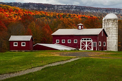 Hudson Valley Ny Countryside Poster by Susan Candelario