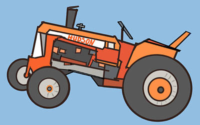 Hudson's Tractor Poster by Denny Casto