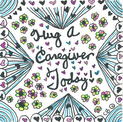 Hug A Caregiver Poster