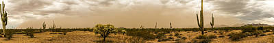 Huge Arizona Dust Storm Panoramic Poster by Chuck Brown