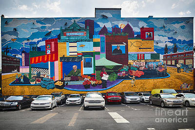 Huge Wall Mural In Pittsburgh Poster