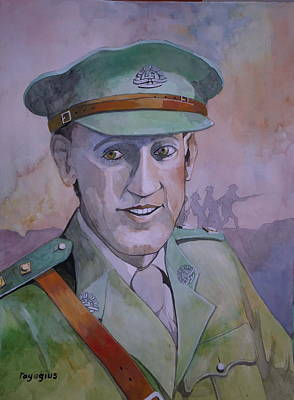 Poster featuring the painting Hugo Throssel Vc by Ray Agius