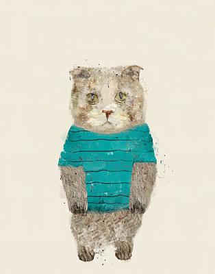 Hugs The Kitty Poster by Bri B