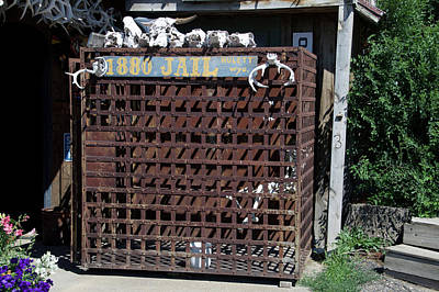 Hulett Wyoming 1880 Steel Cage Jail Poster by Thomas Woolworth